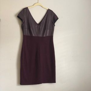 Bailey 44 pleather maroon sheath dress
